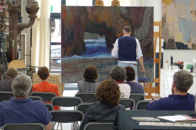 Malvorführung in der Kunsthalle Burkamp – kulturelle Bildung für alle – Treffpunkt für Interessierte